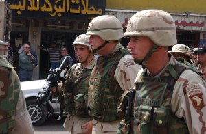 Woodland body armor in Iraq