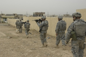 The ACU worn on patrol in Iraq