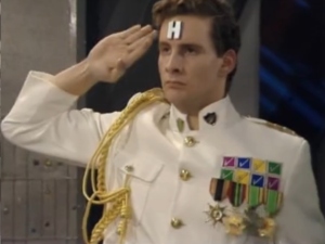 Rimmer from the British t.v. show Red Dwarf