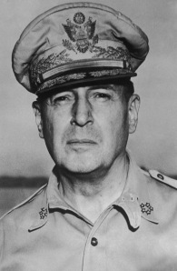 General MacArthur without his corn cobb pipe
