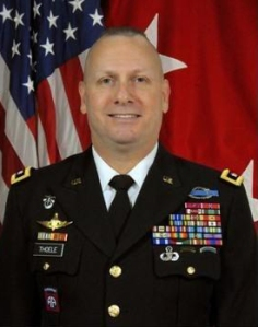 Forscom commander with ranger and special forces metal badges on ASU