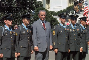 President Johnson with Medal of Honor recipients