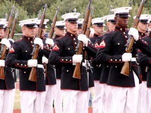 Marine drill team