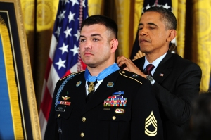 SFC Petry receiving the MOH