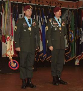 Maroon beret with jump boots is worn by paratroopers
